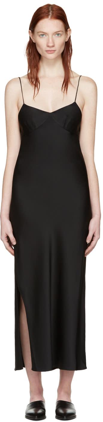 Khaite Black Helen Slip Dress
