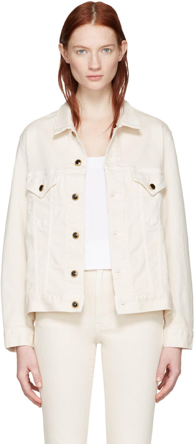 Khaite Ivory Cate Denim Jacket