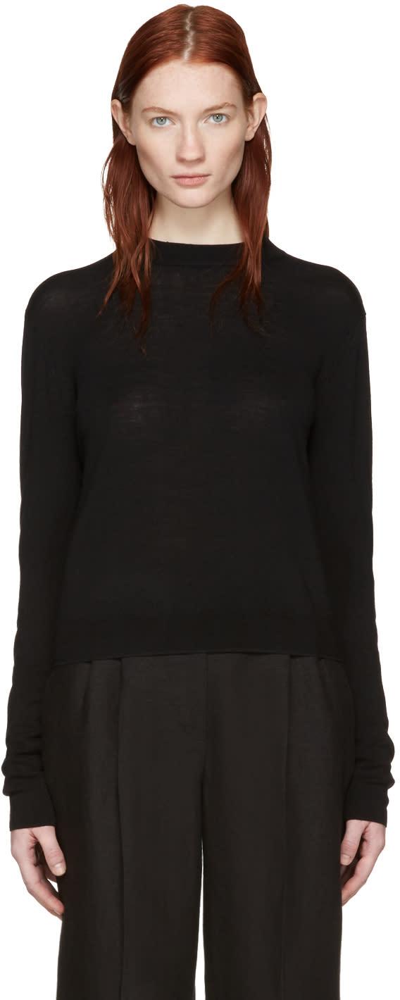 Image of Khaite Black Tie-back Chloe Pullover