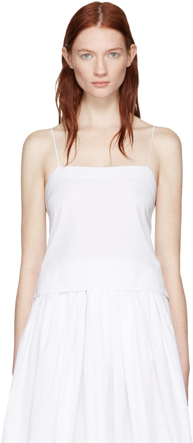 Khaite White Cropped Bekita Camisole