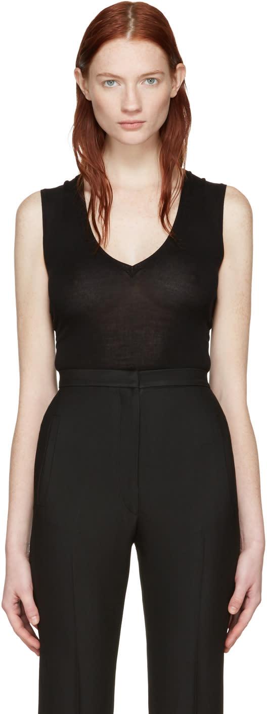 Image of Khaite Black Knit Gabrielle Bodysuit