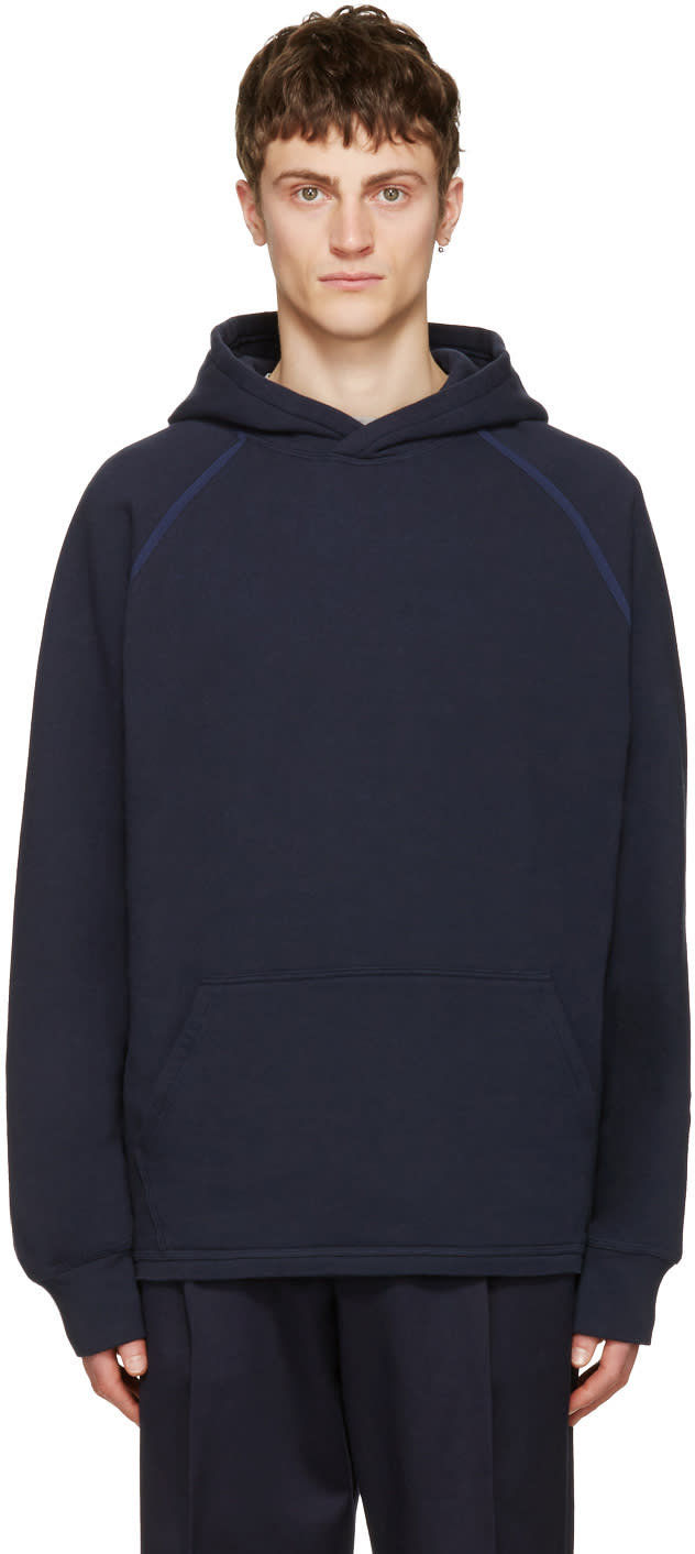 Childs Navy Cut-off Hoodie
