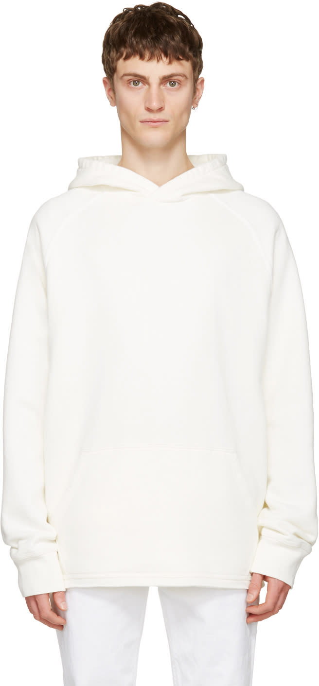 Childs White Cut-off Hoodie