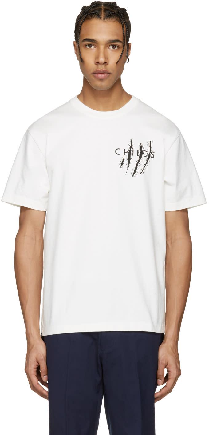 Childs White Ripps Logo Clean T-shirt