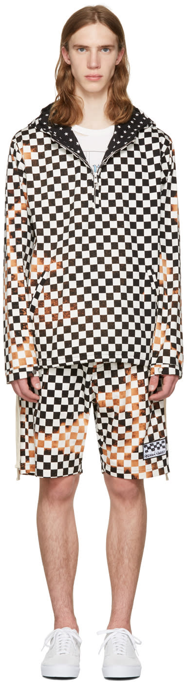 Herman Black and White Checker Pullover Jacket