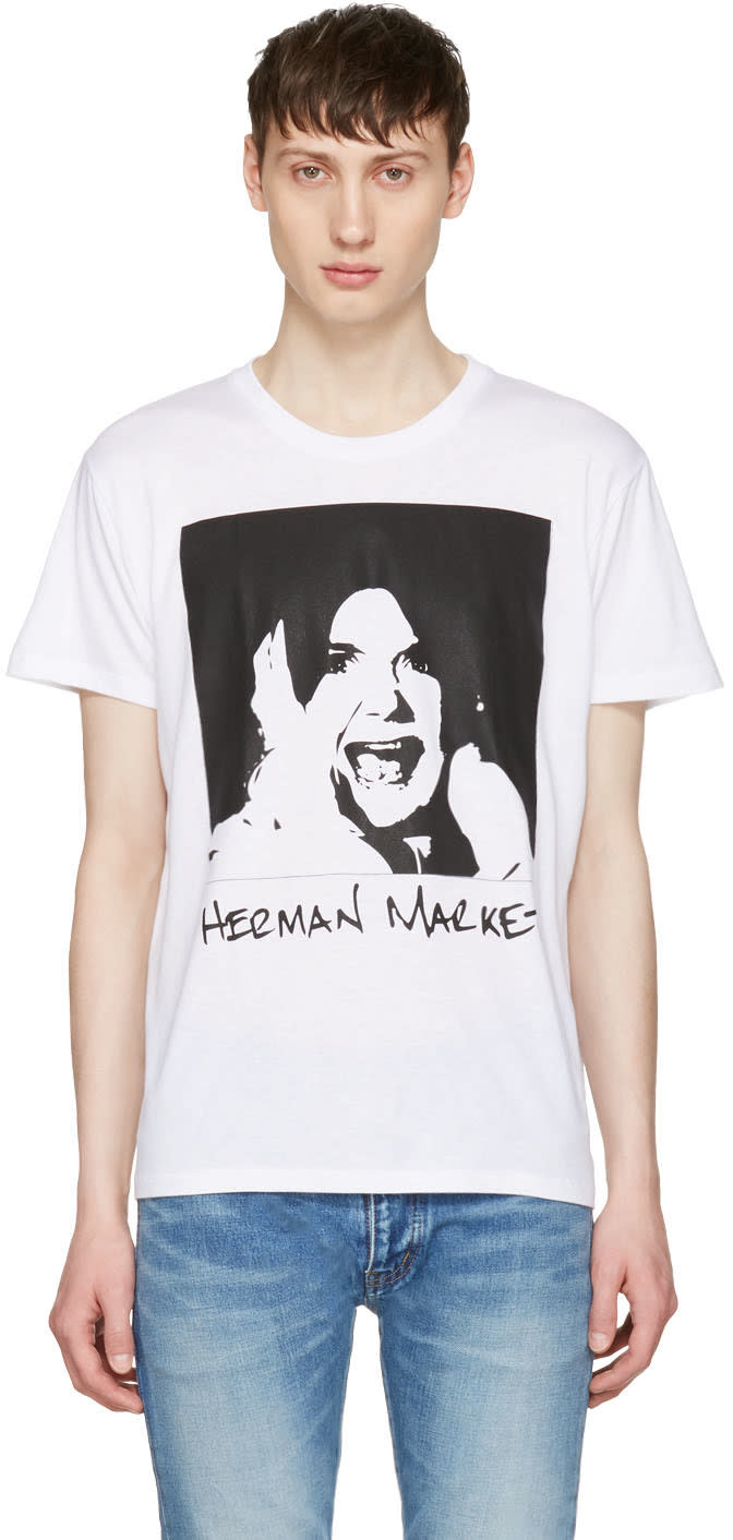 Herman White Printed T-shirt