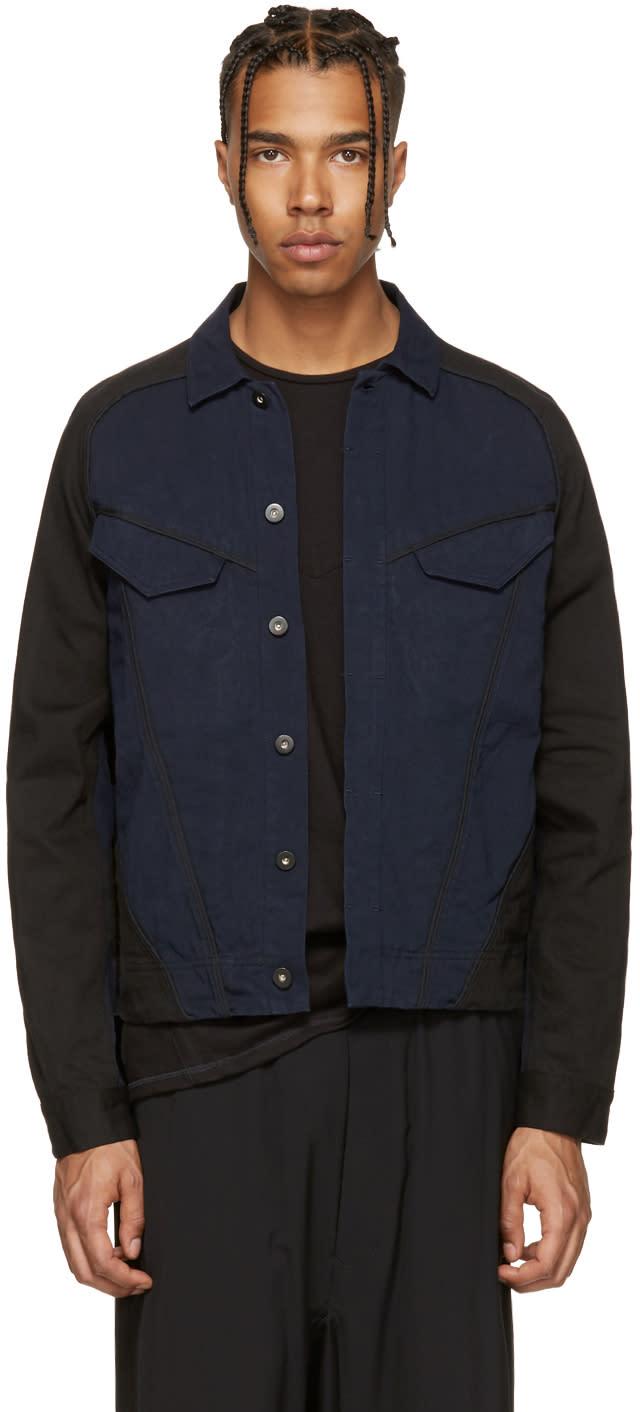 Abasi Rosborough Indigo and Black Denim Arc Jacket