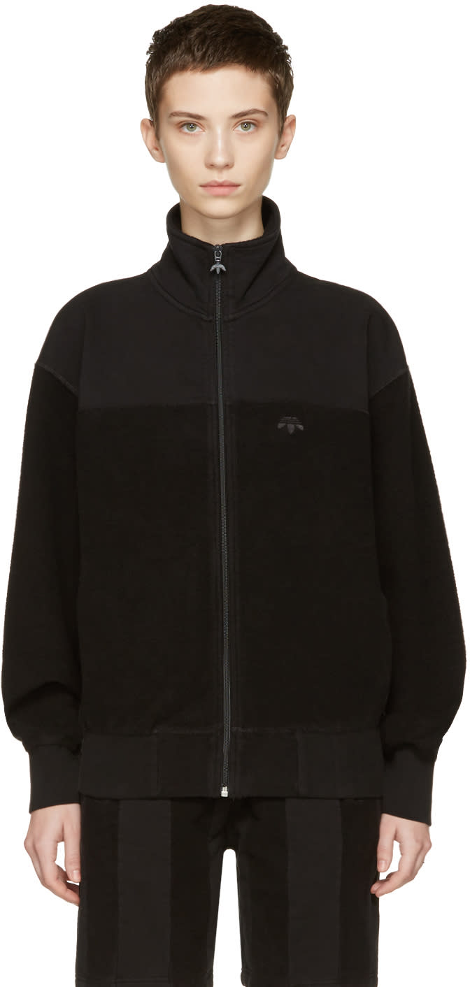 Adidas Originals By Alexander Wang Black Inout Zip-up Track Jacket