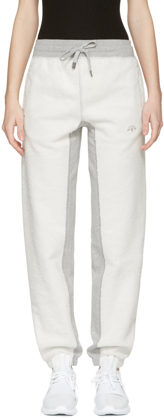 Adidas Originals By Alexander Wang Grey Inout Jogger Lounge Pants