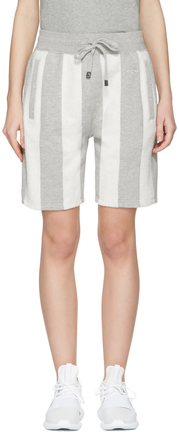 Adidas Originals By Alexander Wang Grey Inout Shorts