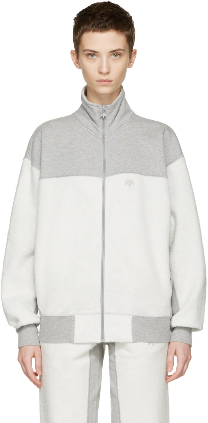 Adidas Originals By Alexander Wang Grey Inout Zip-up Track Jacket