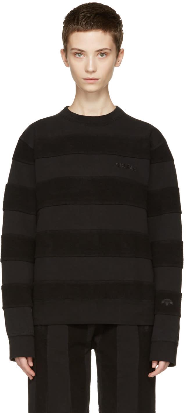 Image of Adidas Originals By Alexander Wang Black Inout Crew Sweatshirt