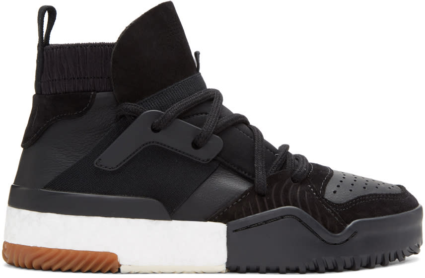 Adidas Originals By Alexander Wang Black Bball High-top Sneakers