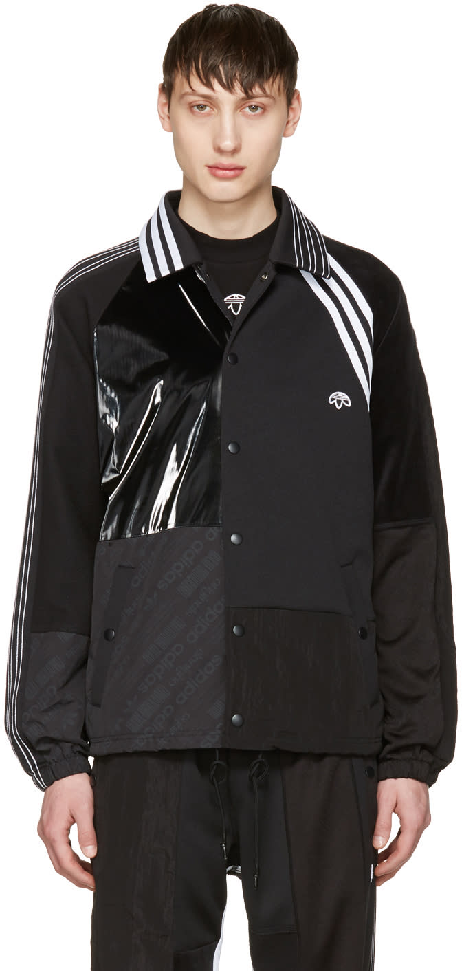 Adidas Originals By Alexander Wang Black Patch Jacket