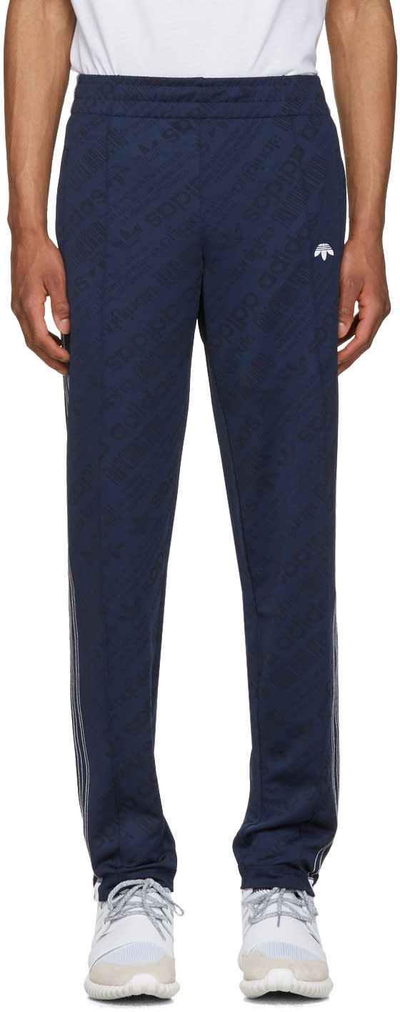 Adidas Originals By Alexander Wang Indigo Jacquard Tp Track Pants