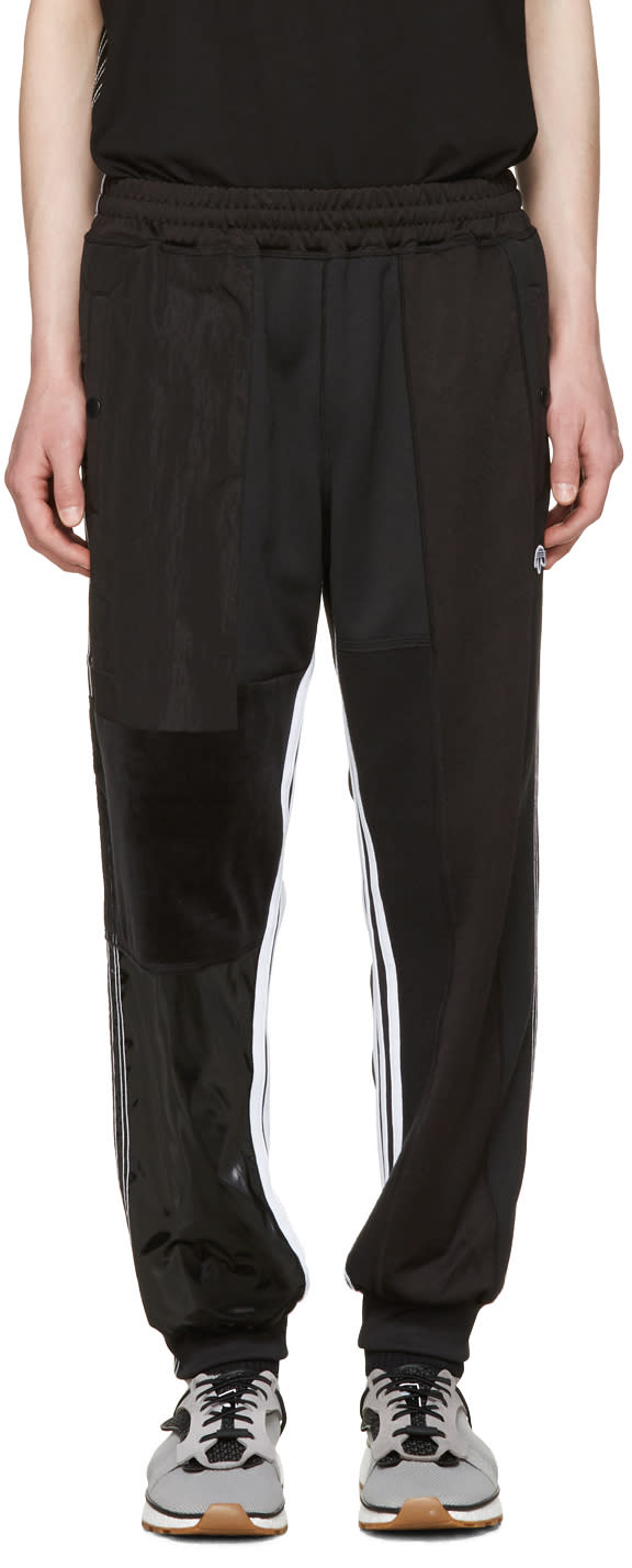 Adidas Originals By Alexander Wang Black Patch Tp Track Pants