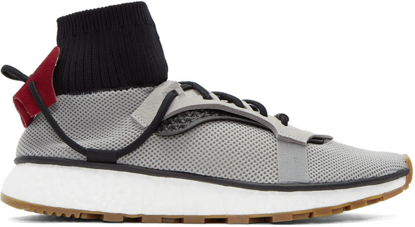 Adidas Originals By Alexander Wang Grey Run Sneakers