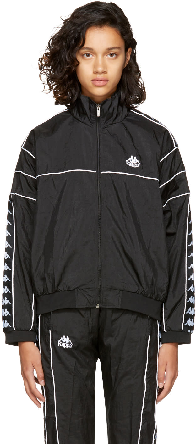 Image of Kappa Ssense Exclusive Black Oversized Windbreaker Track Jacket