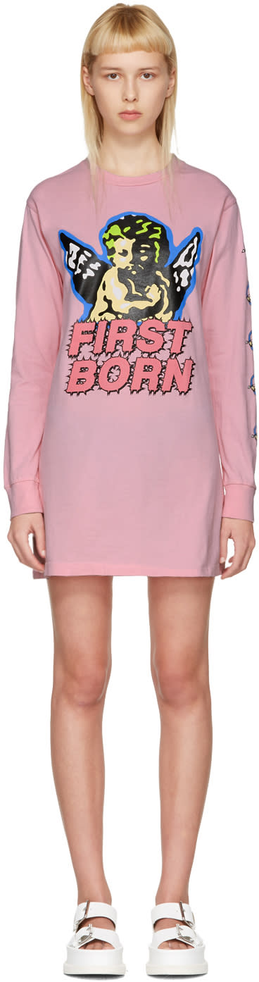 Ashley Williams Pink first Born Cherub T-shirt Dress