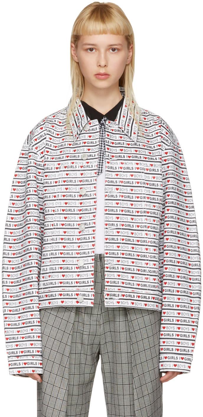 Ashley Williams White Denim Western boys Girls Jacket