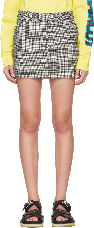 Ashley Williams Black and Ivory prince Of Wales Miniskirt