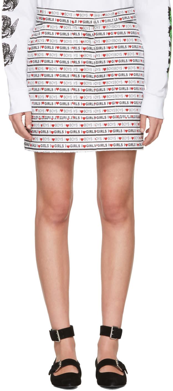 Ashley Williams White Denim boys Girls Miniskirt