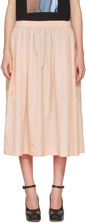 Ashley Williams Pink Gathered Nylon Skirt