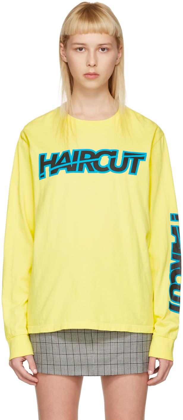Ashley Williams Yellow haircut T-shirt