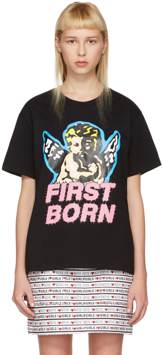 Ashley Williams Black first Born Cherub T-shirt