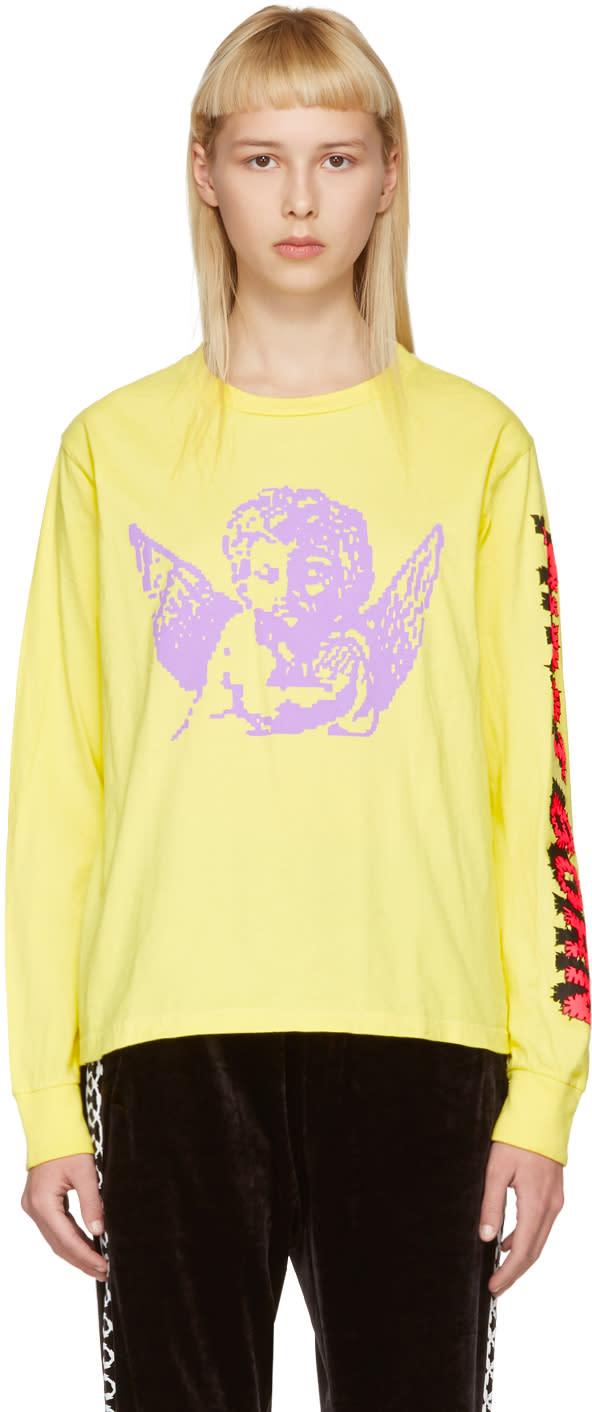 Ashley Williams Yellow first Born Cherub T-shirt