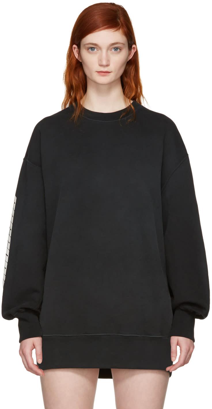 Image of Yeezy Black calabasas Boxy Crewneck Sweatshirt