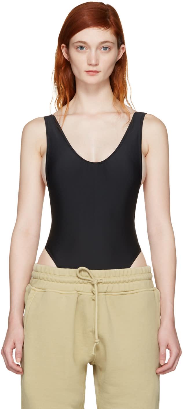 Image of Yeezy Black Basic One-piece Swimsuit