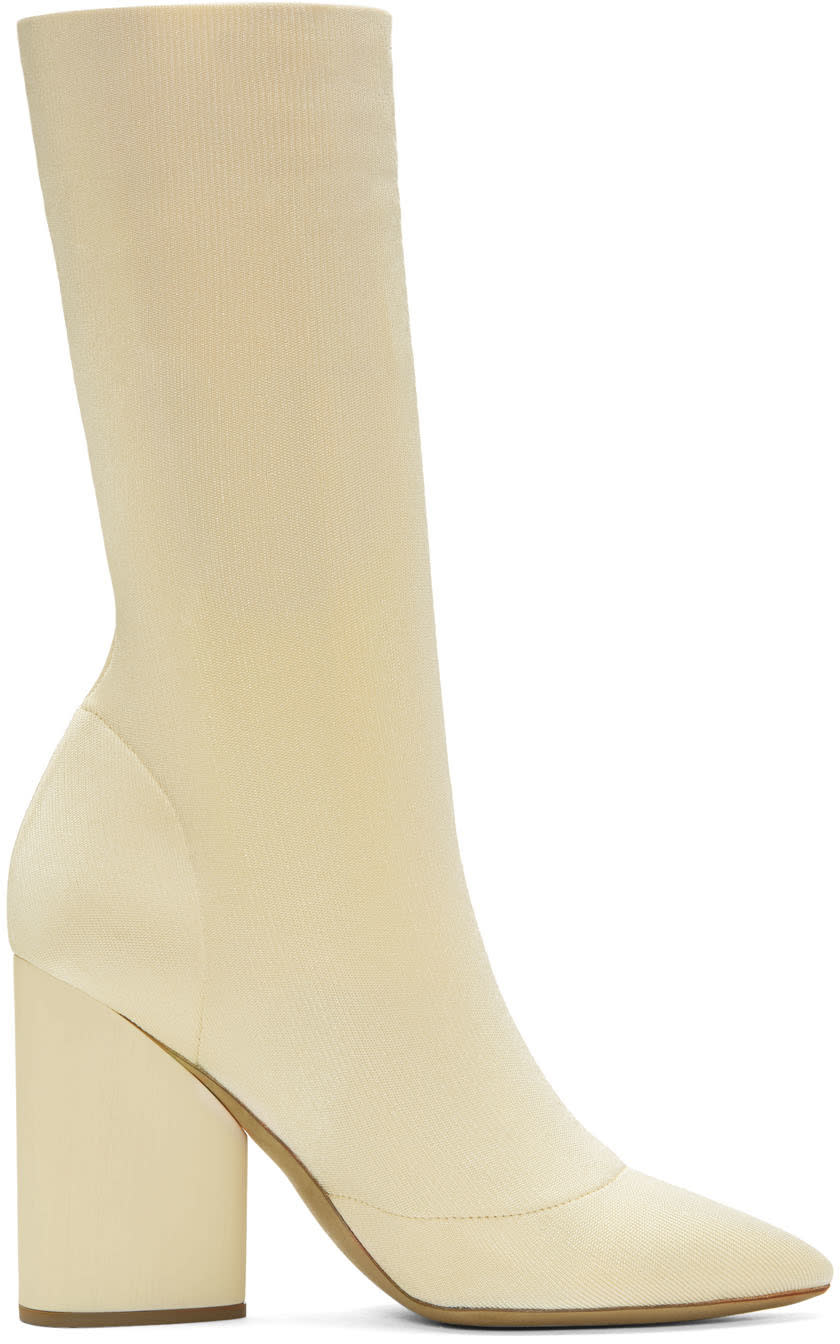 Yeezy Ivory Knit Ankle Boots