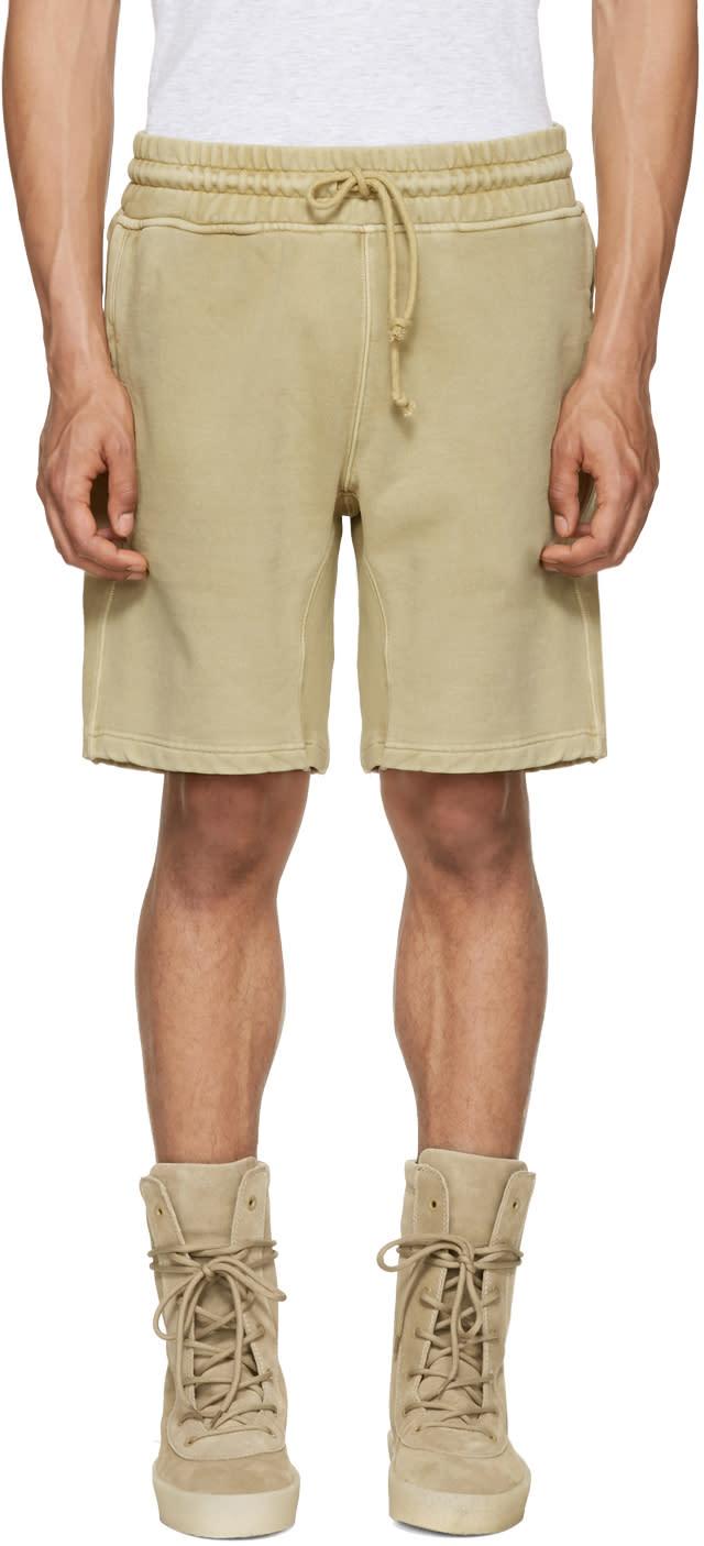 Yeezy Beige Panelled Sweatshorts
