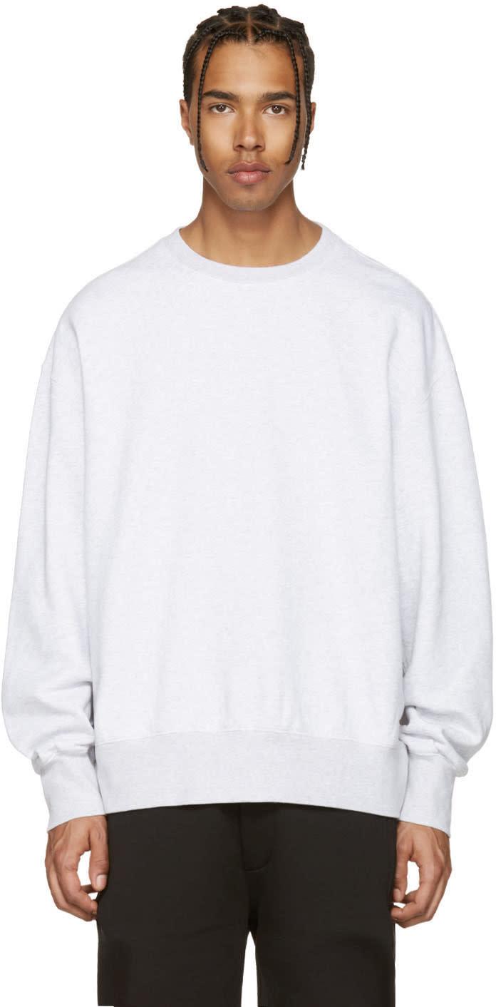 Yeezy Grey Boxy Crewneck Sweatshirt