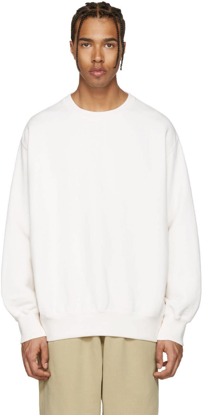 Yeezy Off-white Boxy Crewneck Sweatshirt