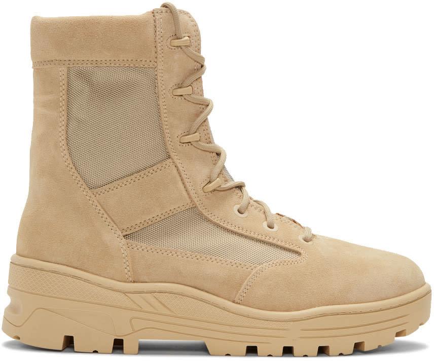Image of Yeezy Beige Combat Boots
