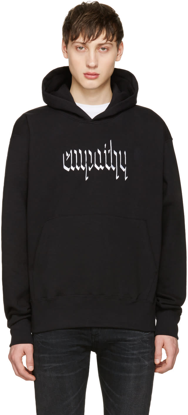 Resort Corps Black Embroidered Empathy Hoodie