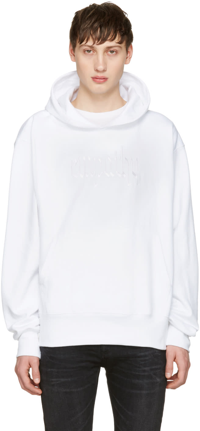 Resort Corps Ssense Exclusive White Embroidered Empathy Hoodie