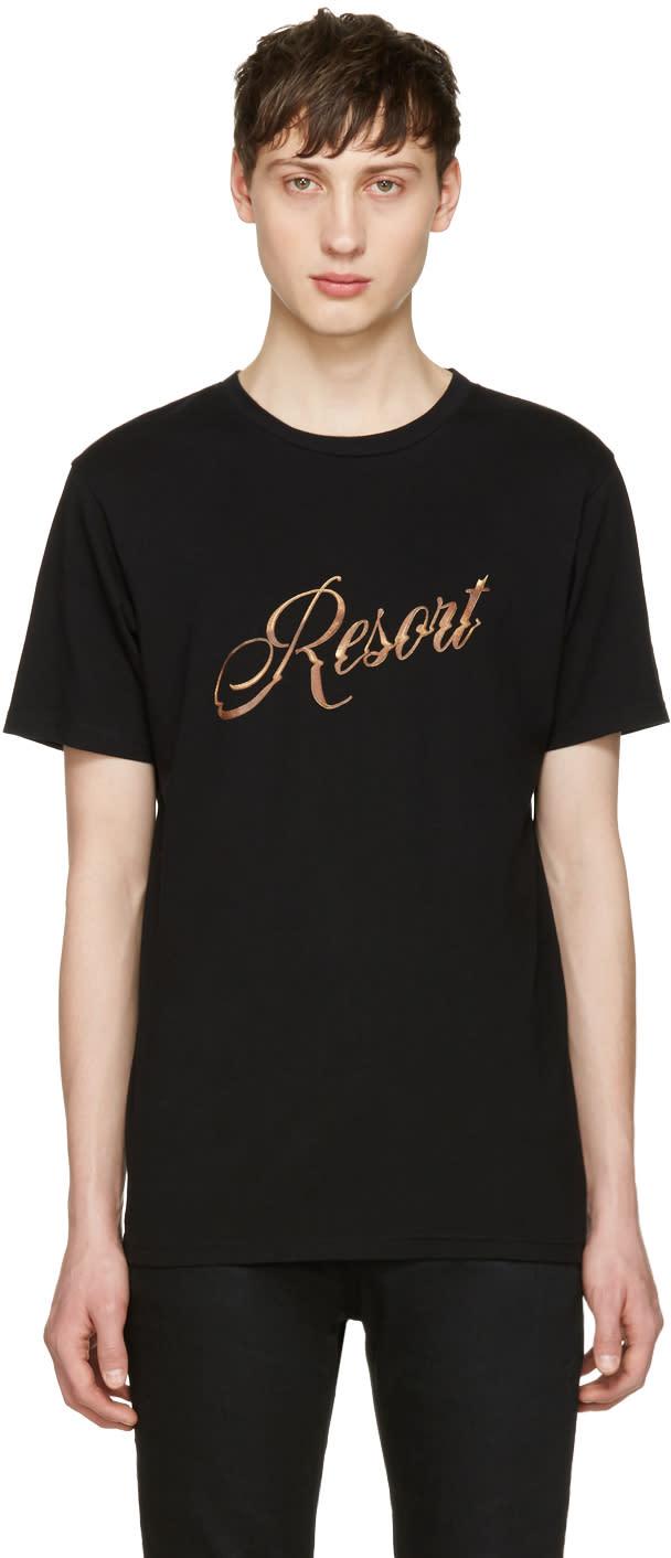 Resort Corps Black Bootleg Logo T-shirt