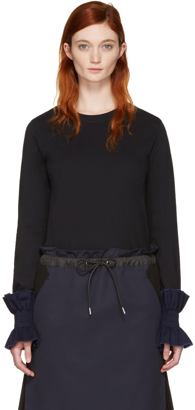 Ovelia Transtoto Black Frill Cuff T-shirt