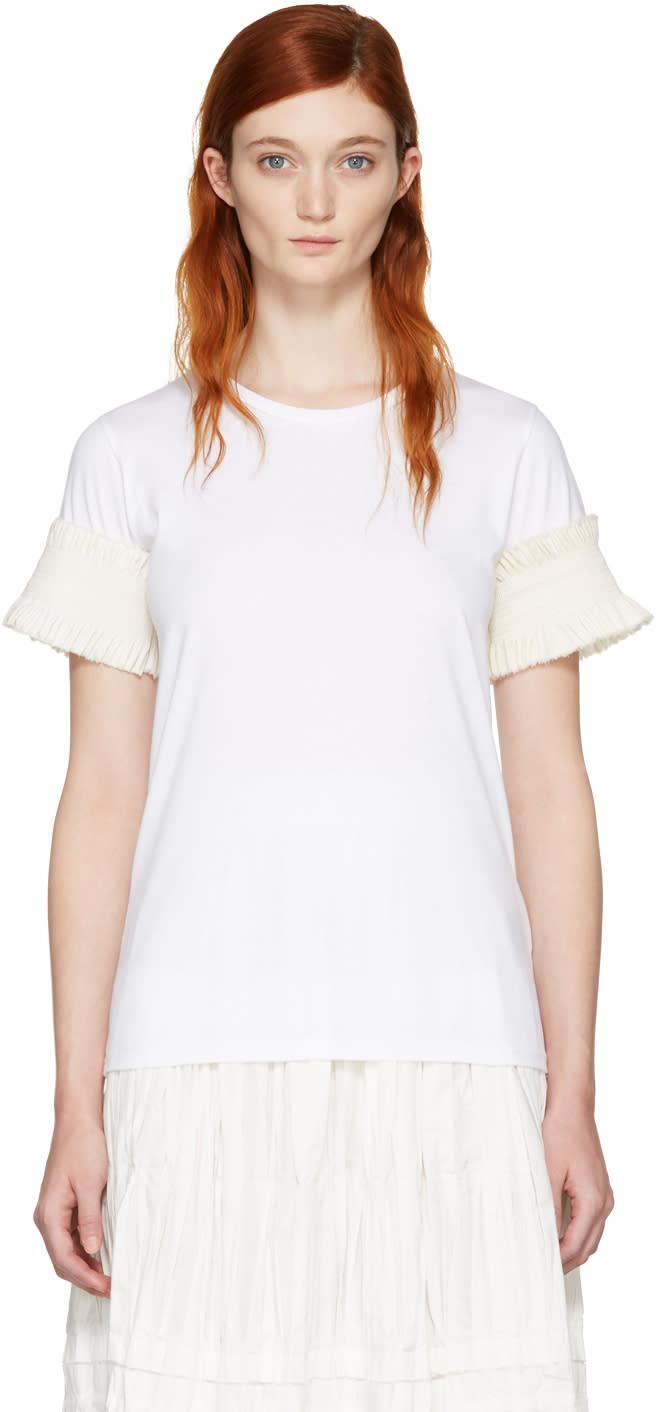 Ovelia Transtoto White Frill Sleeve T-shirt