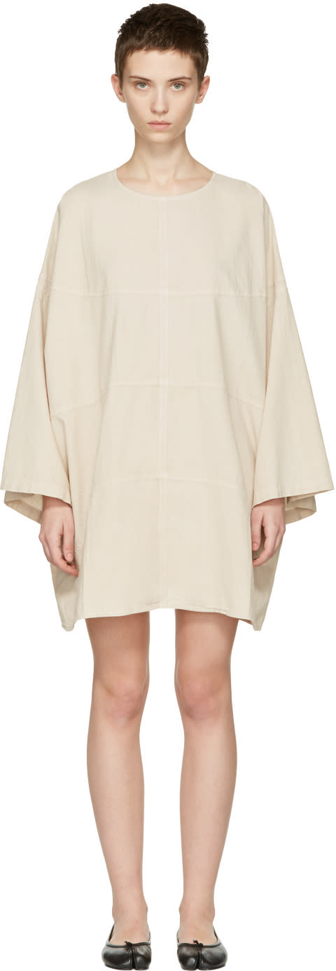 Image of 69 Ssense Exclusive Beige Chambray Basketball Dress