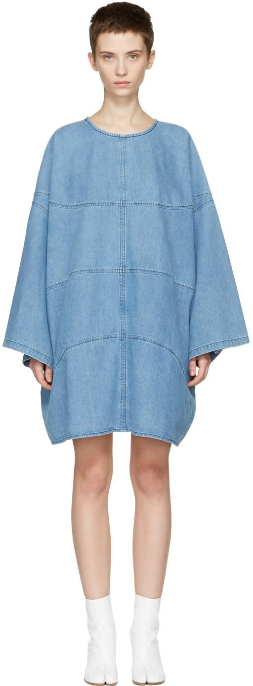 Image of 69 Ssense Exclusive Blue Denim Basketball Dress