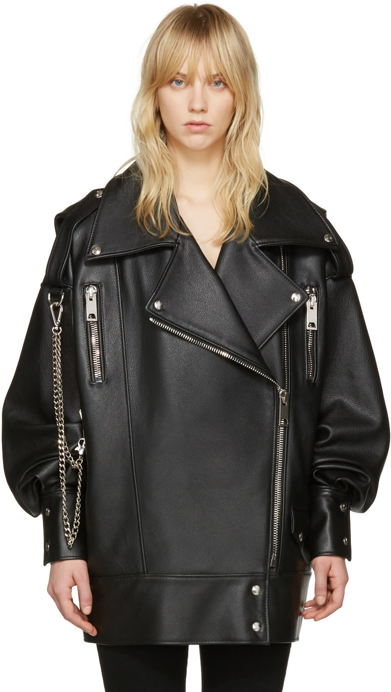 Misbhv Black Leather Martina Jacket