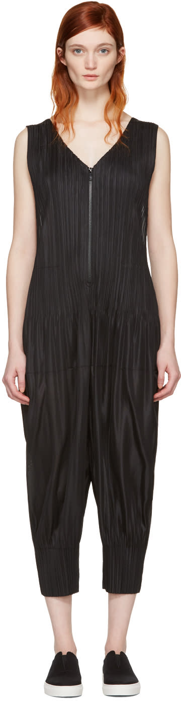 Pleats Please Issey Miyake Black Pleated Jumpsuit
