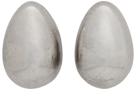 Sophie Buhai Silver Tiny Egg Earrings