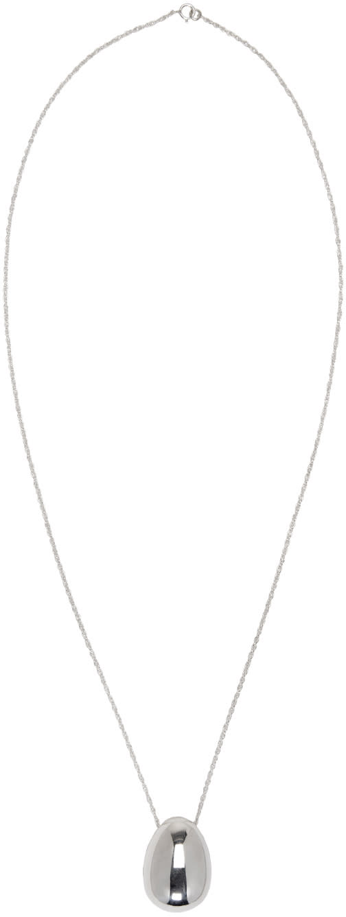 Sophie Buhai Silver Egg Pendant Necklace