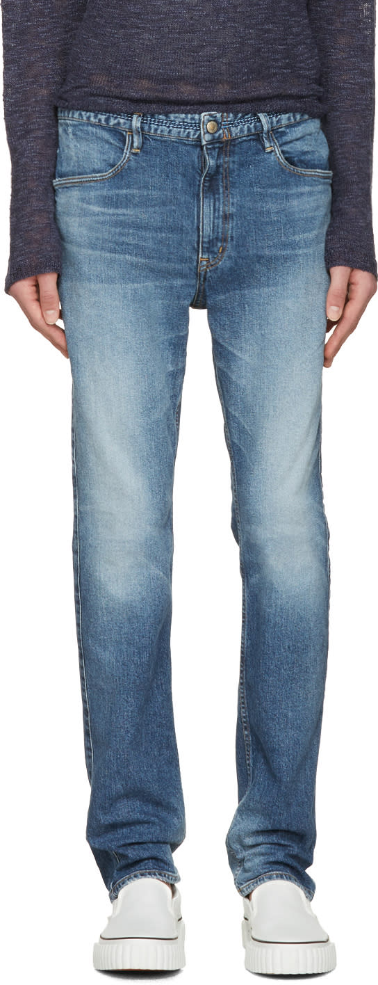 Nonnative Indigo Dweller Tapered Fit Jeans