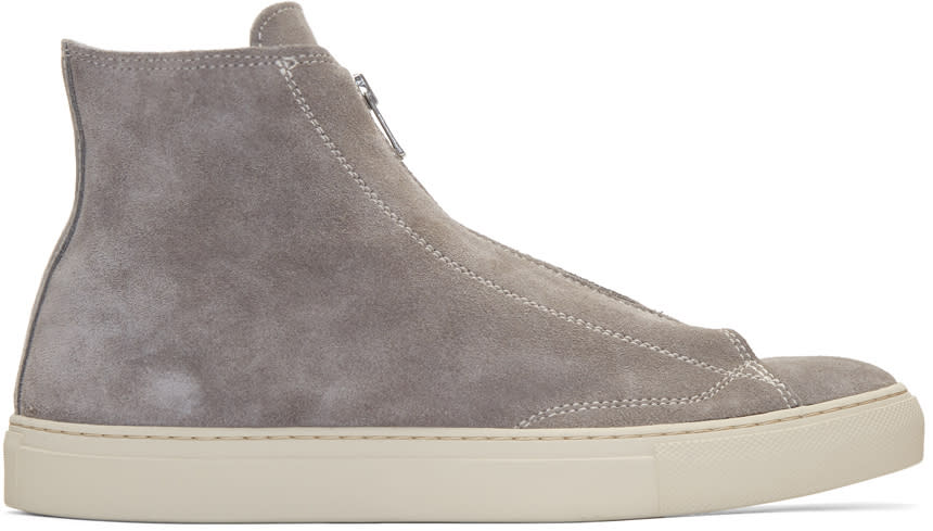 Nonnative Grey Suede Dweller High-top Sneakers